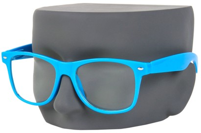 Neon Blue Wayfarer Nerd Glasses