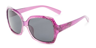 Angle of Haddington #7848 in Purple Frame with Grey Lenses, Women's Square Sunglasses