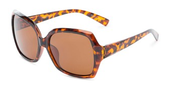 Angle of Haddington #7848 in Tortoise Frame with Amber Lenses, Women's Square Sunglasses