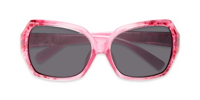Folded of Haddington #7848 in Pink/Red Frame with Grey Lenses