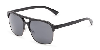 Angle of Hadwin #5040 in Black Frame with Grey Lenses, Men's Browline Sunglasses