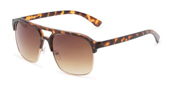 Angle of Hadwin #5040 in Tortoise Frame with Amber Lenses, Men's Browline Sunglasses