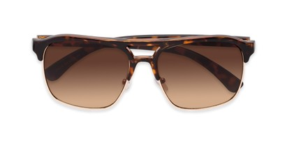 Folded of Hadwin #5040 in Tortoise Frame with Amber Lenses