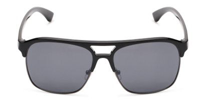 Front of Hadwin #5040 in Black Frame with Grey Lenses