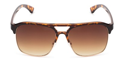 Front of Hadwin #5040 in Tortoise Frame with Amber Lenses