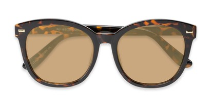 Folded of Hampton #1169 in Tortoise Frame with Gold Mirrored Lenses
