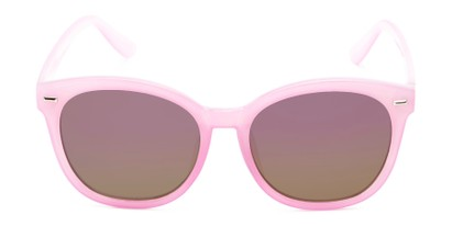 Front of Hampton #1169 in Light Purple Frame with Pink Mirrored Lenses