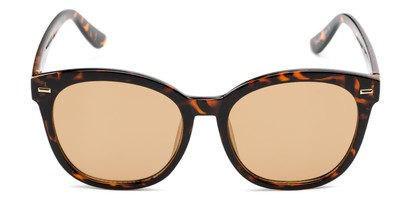 Front of Hampton #1169 in Tortoise Frame with Gold Mirrored Lenses
