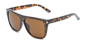 Angle of Hank #7442 in Tortoise Frame with Amber Lenses, Men's Square Sunglasses