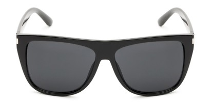 Front of Hank #7442 in Black Frame with Grey Lenses