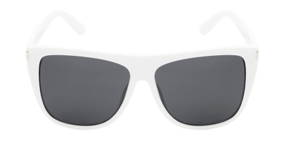 Front of Hank #7442 in White Frame with Grey Lenses