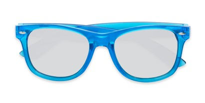 Folded of Hanson #60030 in Blue Frame with Silver Mirrored Lenses