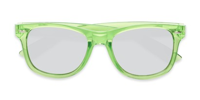 Folded of Hanson #60030 in Green Frame with Silver Mirrored Lenses