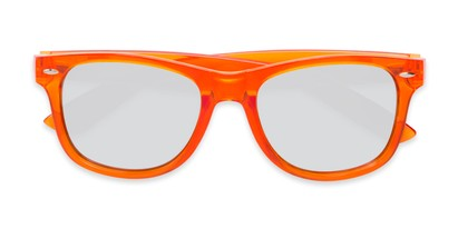 Folded of Hanson #60030 in Orange Frame with Silver Mirrored Lenses
