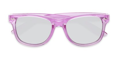 Folded of Hanson #60030 in Purple Frame with Silver Mirrored Lenses