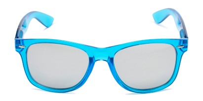 Front of Hanson #60030 in Blue Frame with Silver Mirrored Lenses