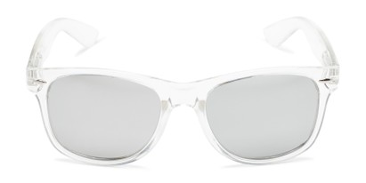 Front of Hanson #60030 in Clear Frame with Silver Mirrored Lenses