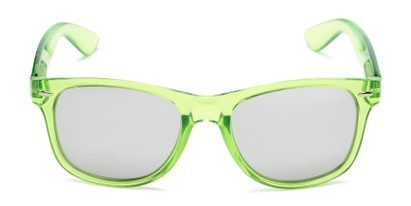 Front of Hanson #60030 in Green Frame with Silver Mirrored Lenses
