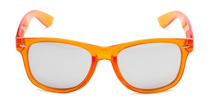 Front of Hanson #60030 in Orange Frame with Silver Mirrored Lenses