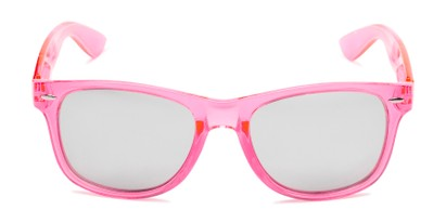 Front of Hanson #60030 in Pink Frame with Silver Mirrored Lenses