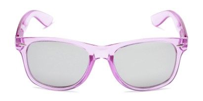 Front of Hanson #60030 in Purple Frame with Silver Mirrored Lenses