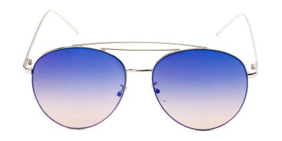 Front of Harbor #3136 in Silver Frame with Blue/Pink Mirrored Gradient Lenses