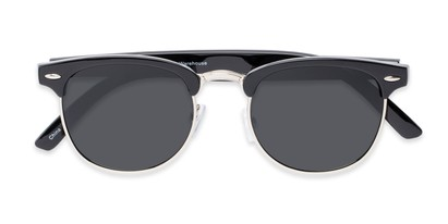 Folded of Harlem in Black/Silver Frame with Grey Lenses