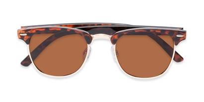 Folded of Harlem in Brown Tortoise Frame with Amber Lenses