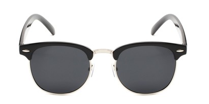 Front of Harlem in Black/Silver Frame with Grey Lenses
