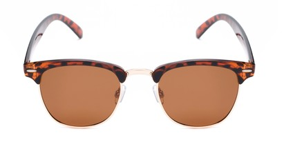 Front of Harlem in Brown Tortoise Frame with Amber Lenses