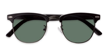 Folded of Harlem in Black/Grey Frame with Green Lenses