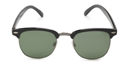 Front of Harlem in Black/Grey Frame with Green Lenses