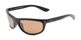 Angle of Harris #5701 in Matte Black Frame with Amber Lenses, Men's Sport & Wrap-Around Sunglasses
