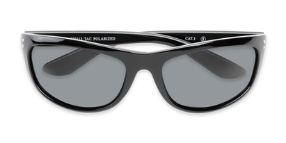 Folded of Harris #5701 in Glossy Black Frame with Smoke Lenses