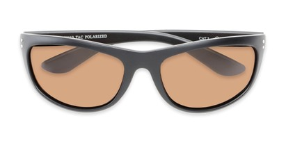 Folded of Harris #5701 in Matte Black Frame with Amber Lenses