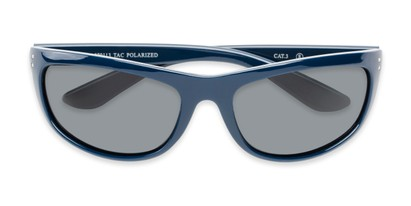 Folded of Harris #5701 in Glossy Navy Blue Frame with Smoke Lenses