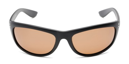 Front of Harris #5701 in Matte Black Frame with Amber Lenses