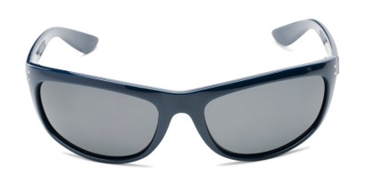 Front of Harris #5701 in Glossy Navy Blue Frame with Smoke Lenses