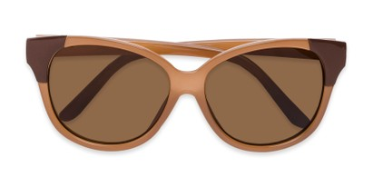 Folded of Hartley #31980 in Glossy Brown Frame with Amber Lenses