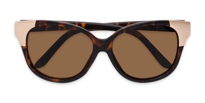 Folded of Hartley #31980 in Matte Tortoise/Gold Frame with Amber Lenses