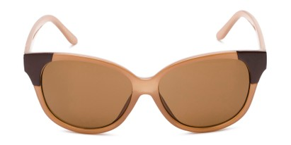 Front of Hartley #31980 in Glossy Brown Frame with Amber Lenses