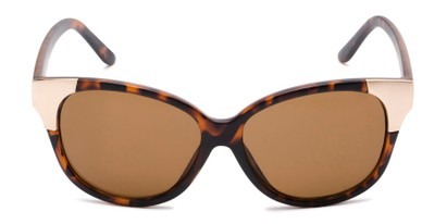Front of Hartley #31980 in Matte Tortoise/Gold Frame with Amber Lenses