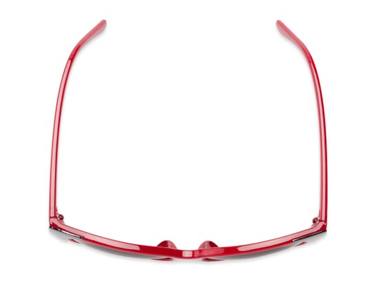Overhead of Hartley #31980 in Glossy Red/Silver Frame with Grey Lenses
