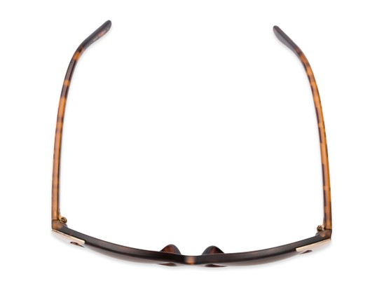Overhead of Hartley #31980 in Matte Tortoise/Gold Frame with Amber Lenses