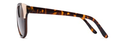 Side of Hartley #31980 in Matte Tortoise/Gold Frame with Amber Lenses