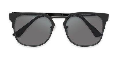 Folded of Hayes #4299 in Black Frame with Grey Lenses