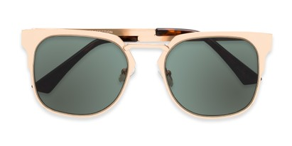 Folded of Hayes #4299 in Gold Frame with Green Lenses