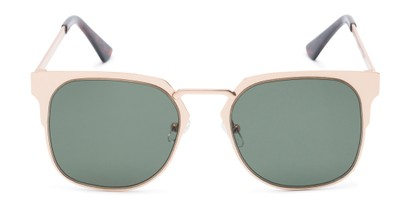 Front of Hayes #4299 in Gold Frame with Green Lenses