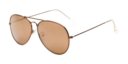Angle of Haylen by Foster Grant in Copper Brown Frame with Copper Mirrored Lenses, Women's Aviator Sunglasses