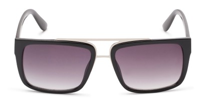 Front of Henley #5326 in Glossy Black Frame with Smoke Lenses